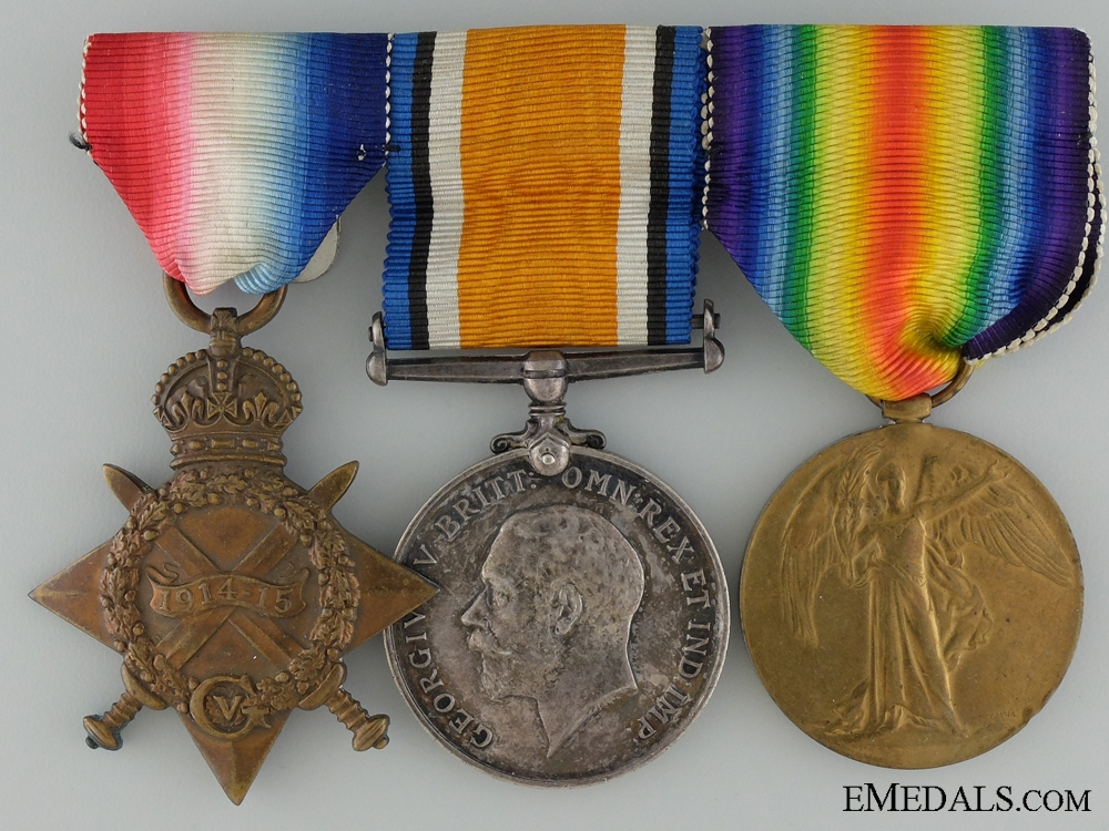 eMedals-A First War Medal Group to the 18th Canadian Infantry CEF