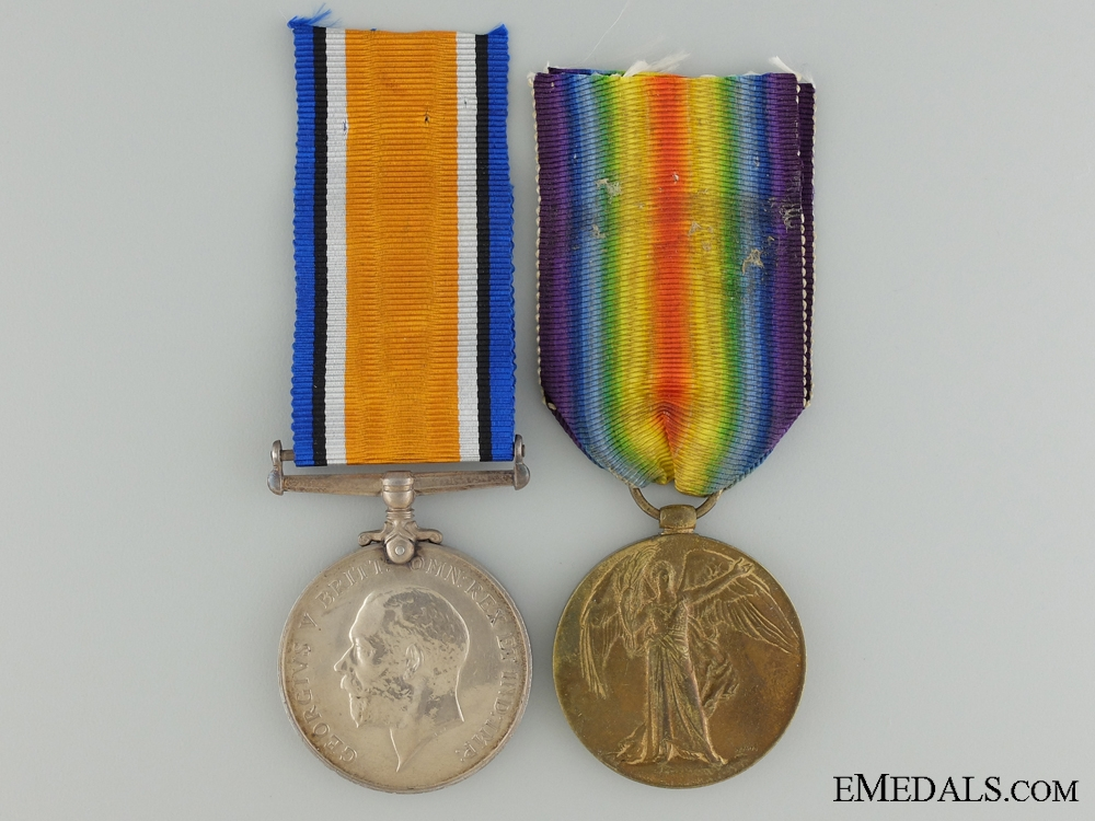 eMedals-A First War Medal Pair to the 25th Canadian Infantry CEF