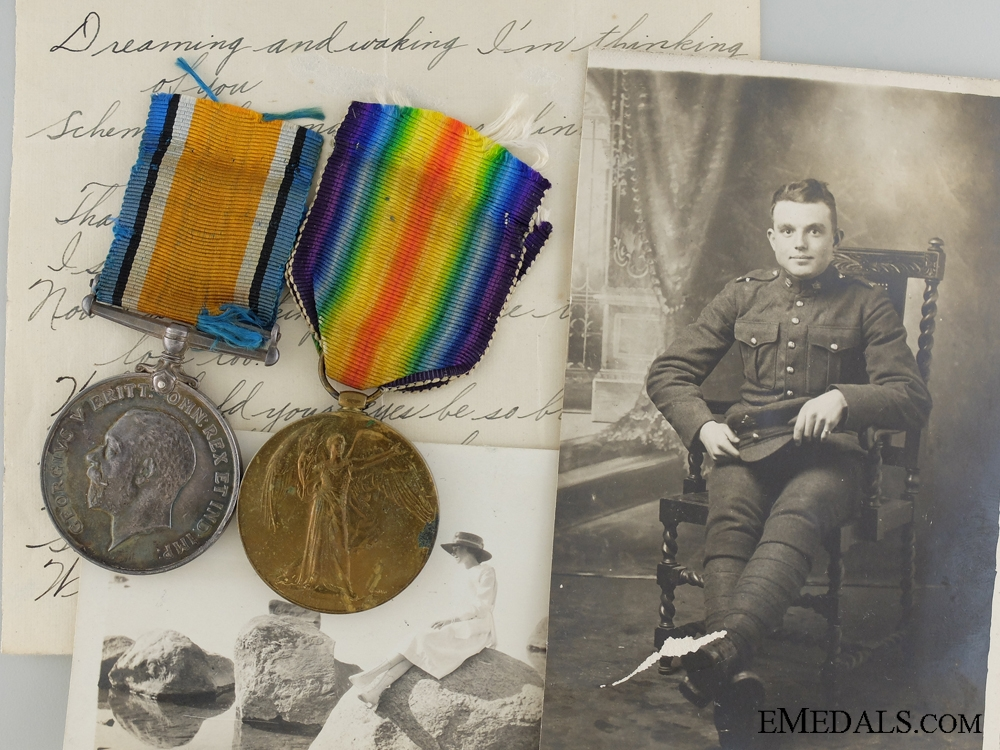 eMedals-A First War Medal Pair and Photos to the Canadian Field Artillery