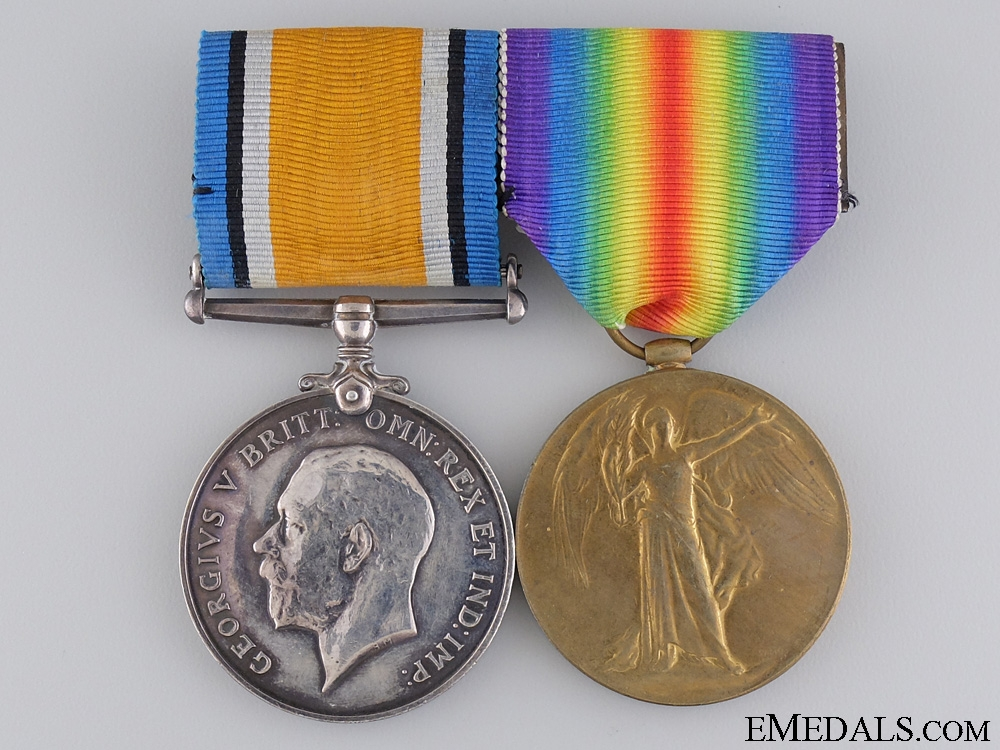 eMedals-A First War Medal Pairto the Canadian Railway Troops