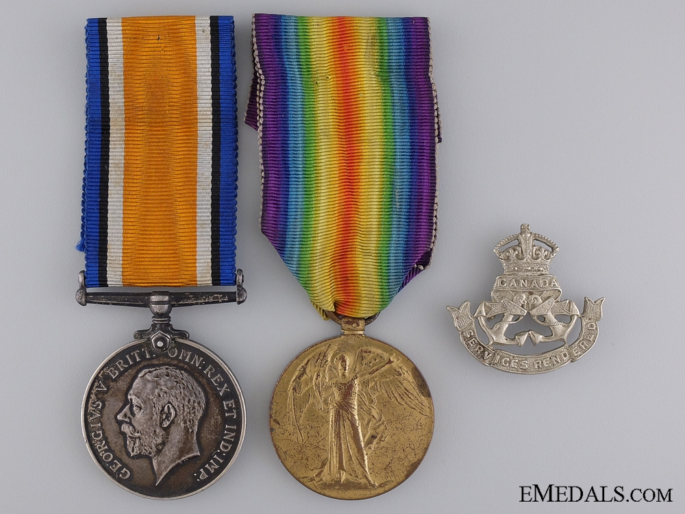 eMedals-A First War Medal Pair to the Royal Canadian Navy