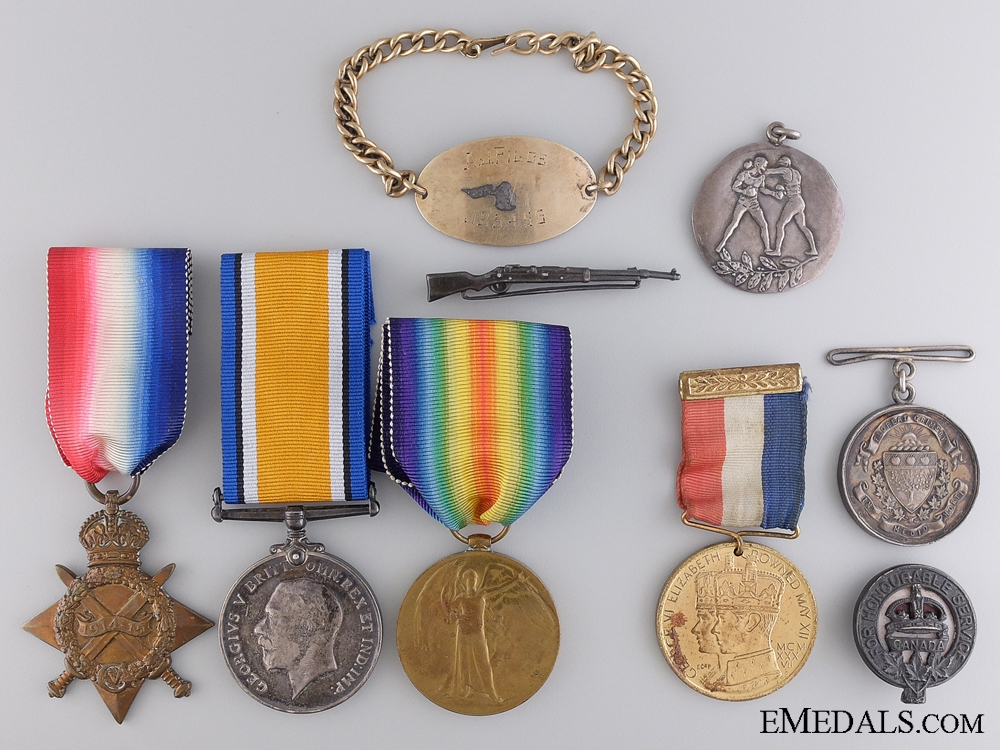 eMedals-A First War Medal Group to the 15th Canadian Infantry