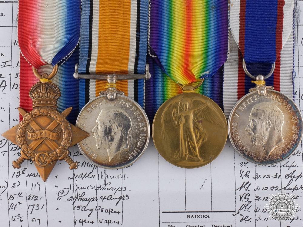 eMedals-A First War Medal Bar to Leading Seaman William Pettet