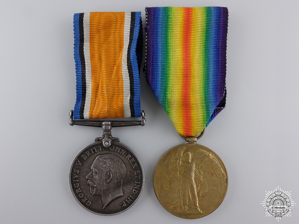 eMedals-A First War Medal Pair to a Sapper Nathanson of Minsk Russia