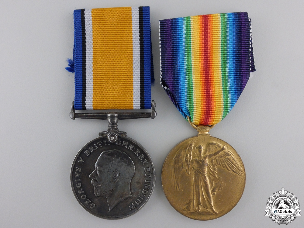 eMedals-A First War Medal Pair to the Army Service Corps