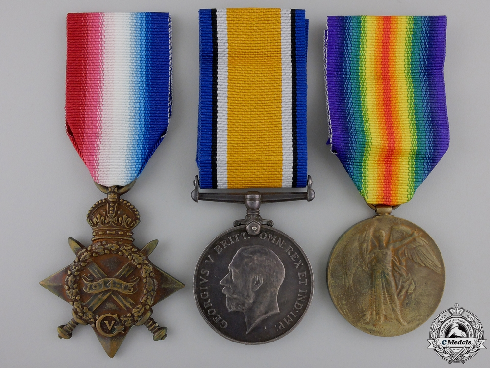 eMedals-A First War Medal Trio 2nd Canadian Division Headquarters