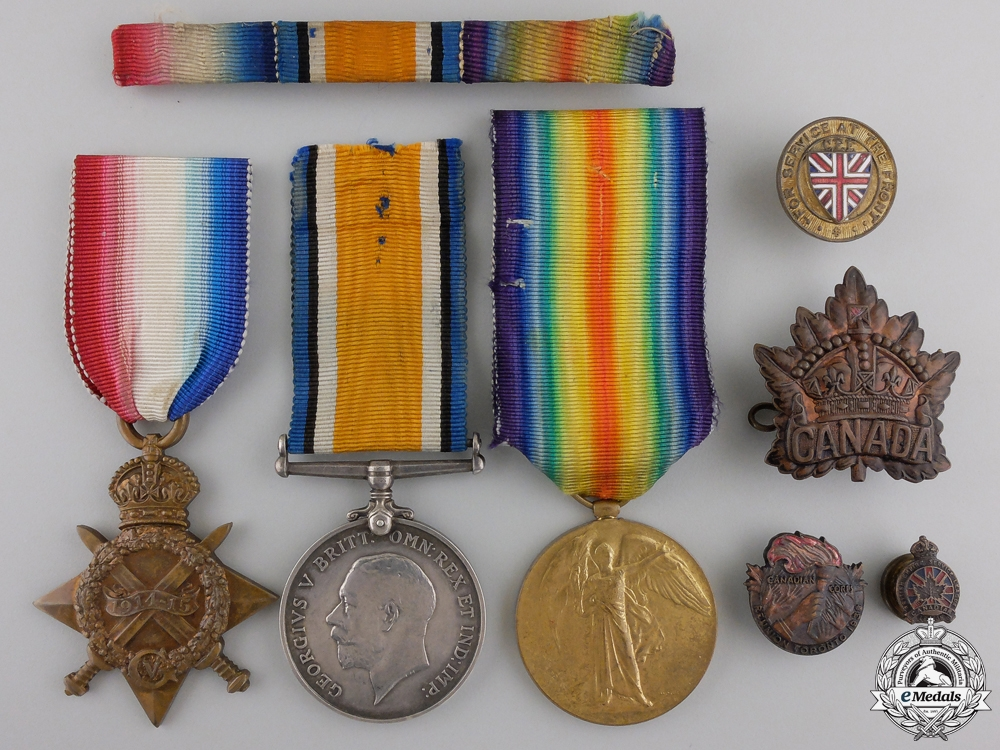 eMedals-A First War Medal Trio to the Canadian Army Medical Corps