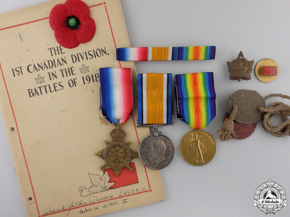 eMedals-A First War Medal Group to the Canadian Army Medical Corps