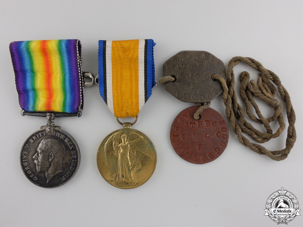 eMedals-A First War Medal Group to the 54th Canadian Infantry