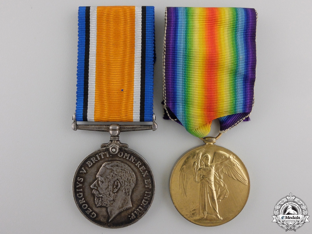 eMedals-A First War Medal Pair to the 3rd Canadian Infantry CEF