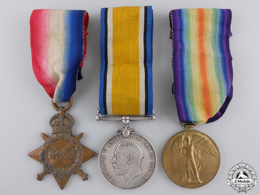 eMedals-A First War Medal Trio to the Army Veterinary Corps