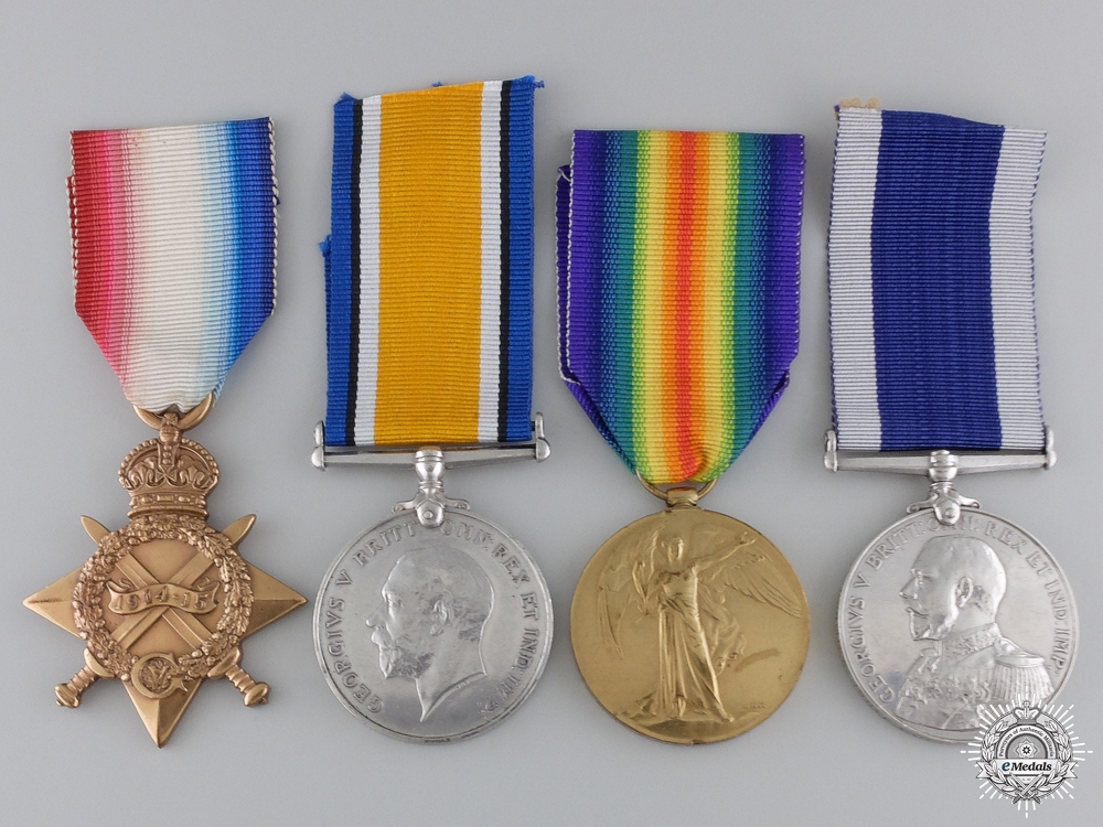 eMedals-A First War Naval Long Service Group to Leading Seaman  Hull