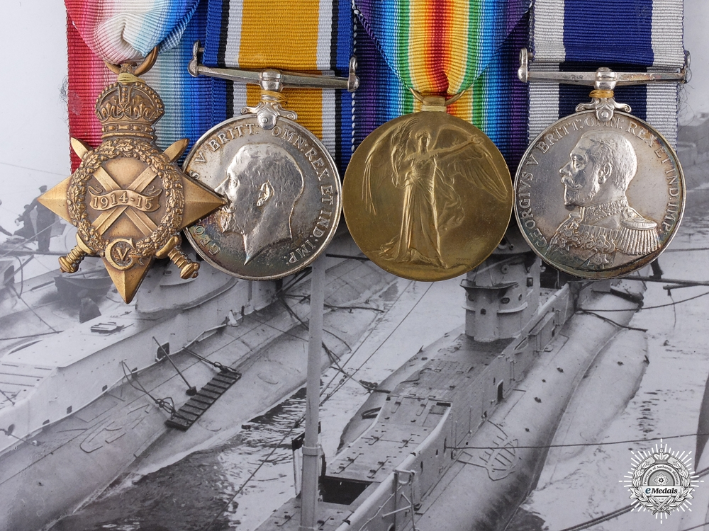 eMedals-A First War Naval Medal Group to Submarine E-10