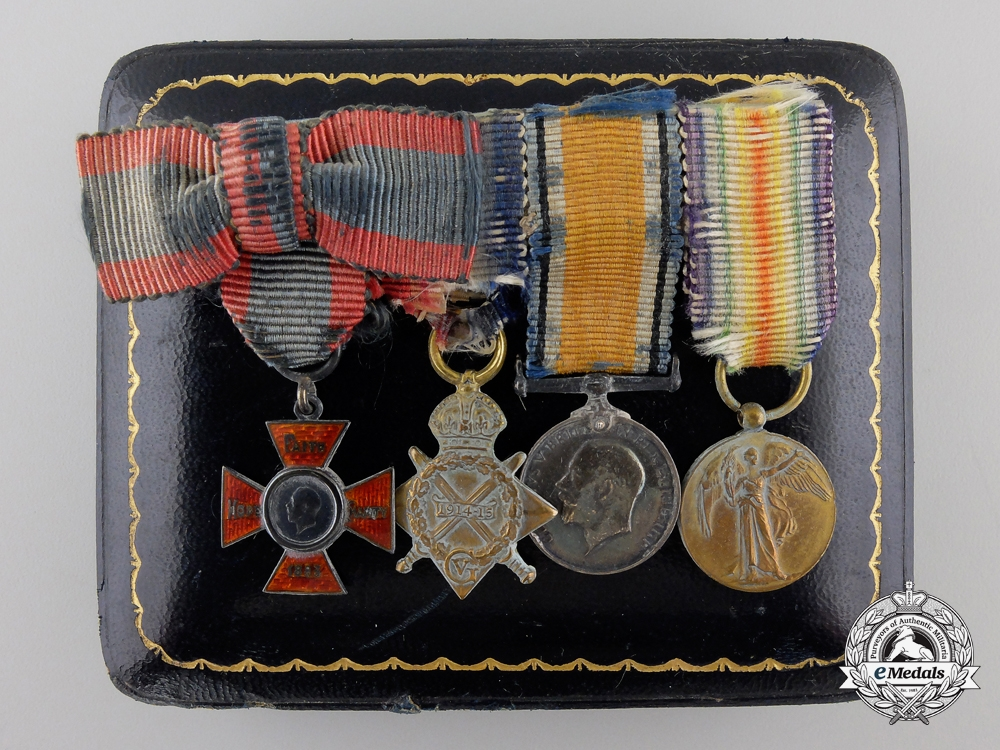 eMedals-A First War Nursing Miniature Group of Four with Case