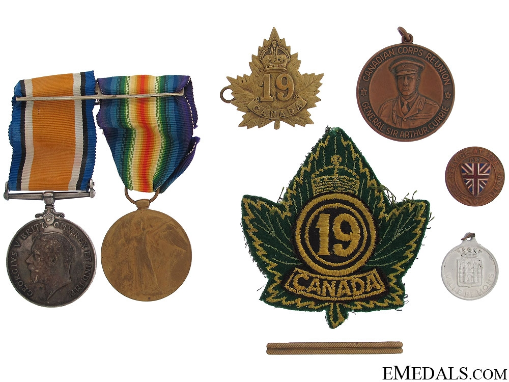 eMedals-A First War Pair to the 19th Canadian Infantry