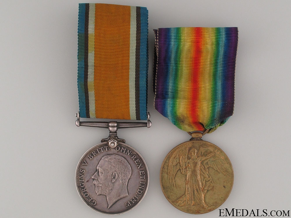eMedals-A First War Pair to the Canadian Pioneer Bn.