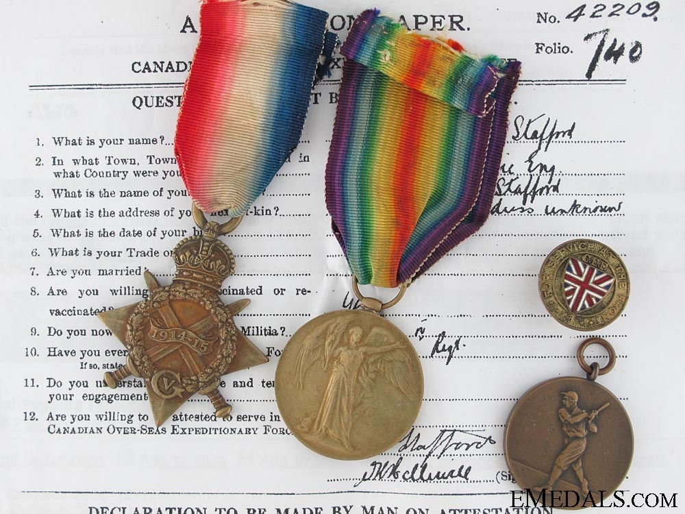 eMedals-A First War Pair to the 10th Canadian Infantry