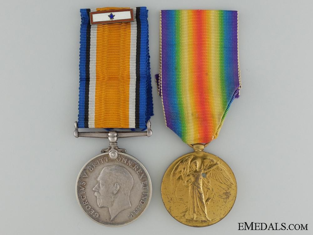eMedals-A First War Pair to the Canadian Cyclist Battalion CEF