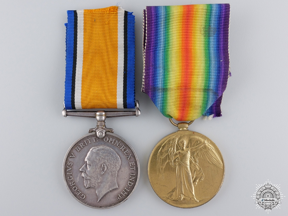 eMedals-A First War Pair to the 4th Canadian Infantry; DOW 1918