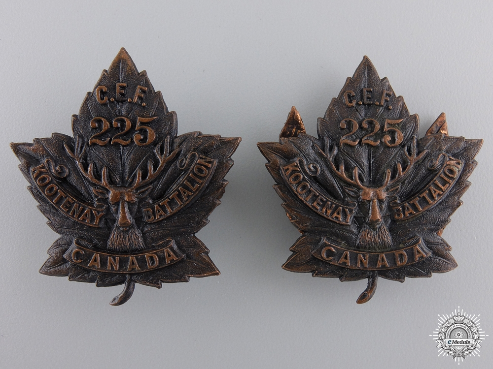 eMedals-A First War Pair of 225th Infantry Battalion Collar Badges