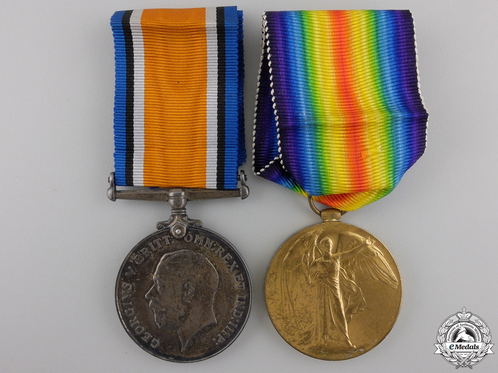 eMedals-A First War Pair to the Canadian Railway Troops