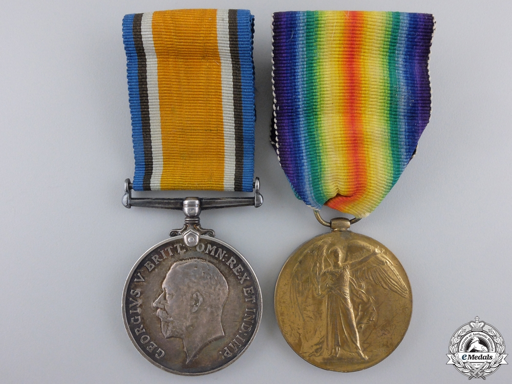 eMedals-A First War Pair t the 54th Canadian Infantry; DOW at Passchendaele