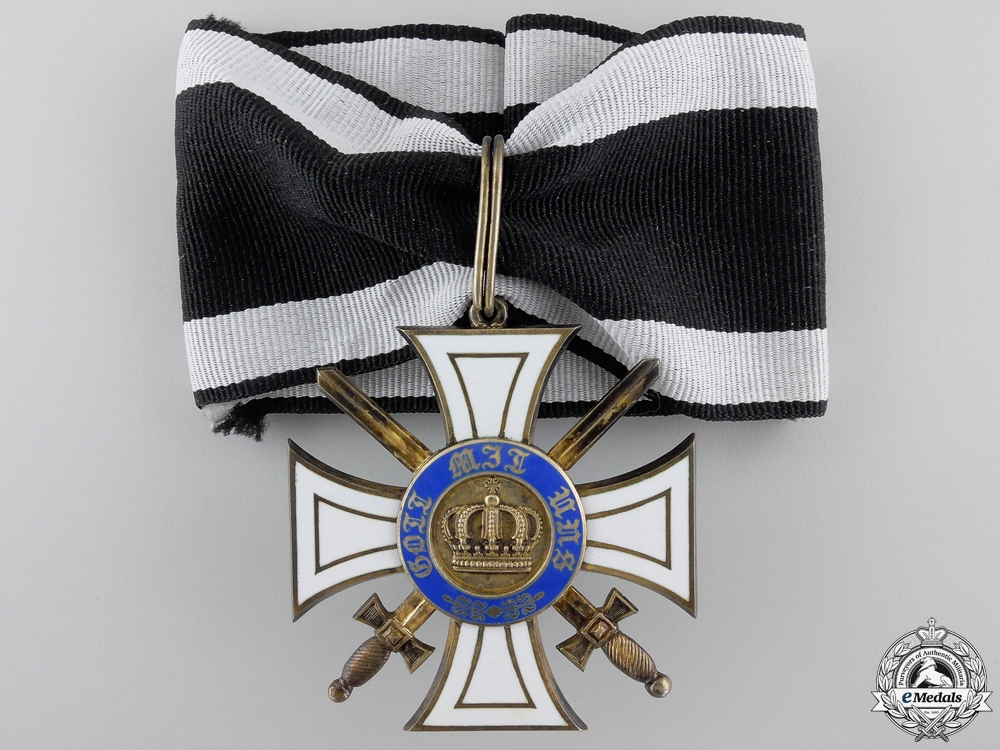 eMedals-A First War Prussian Order of the Crown with Swords; Commander' Cross
