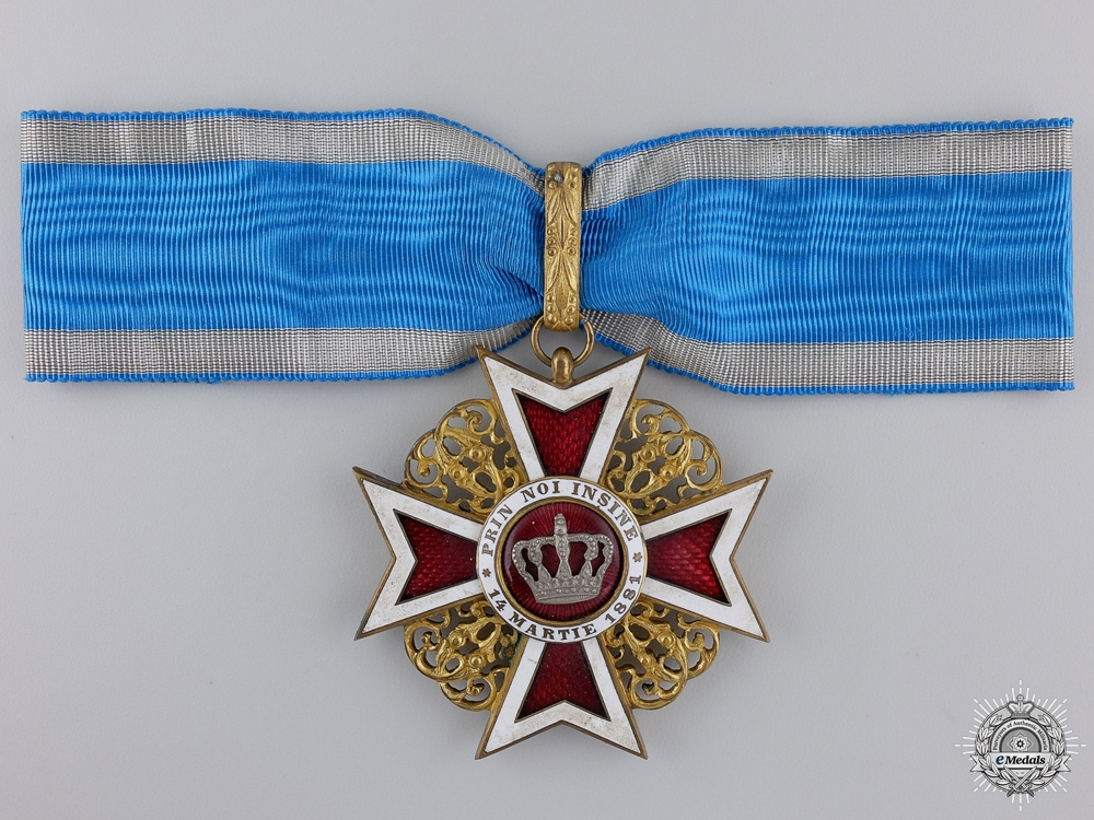 eMedals-A First War Romanian Order of the Crown; Commanders Cross