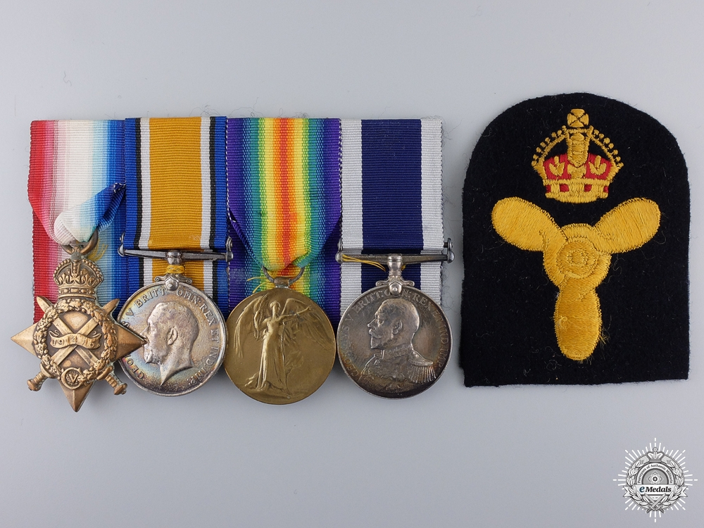 eMedals-A First War Royal Navy Long Service Group to H.M.S. Hercules