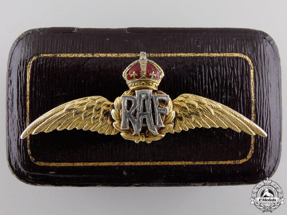 eMedals-A First War Royal Air Force Gold Wings