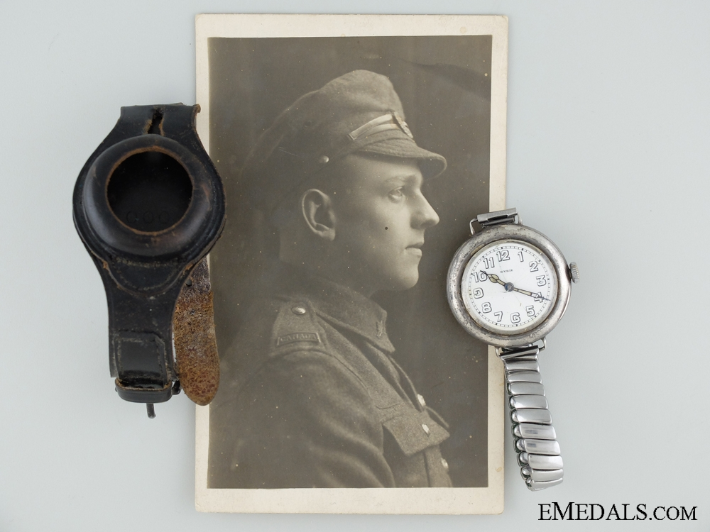 eMedals-A First War Trench Watch to Canadian L.H.Bexon CEF