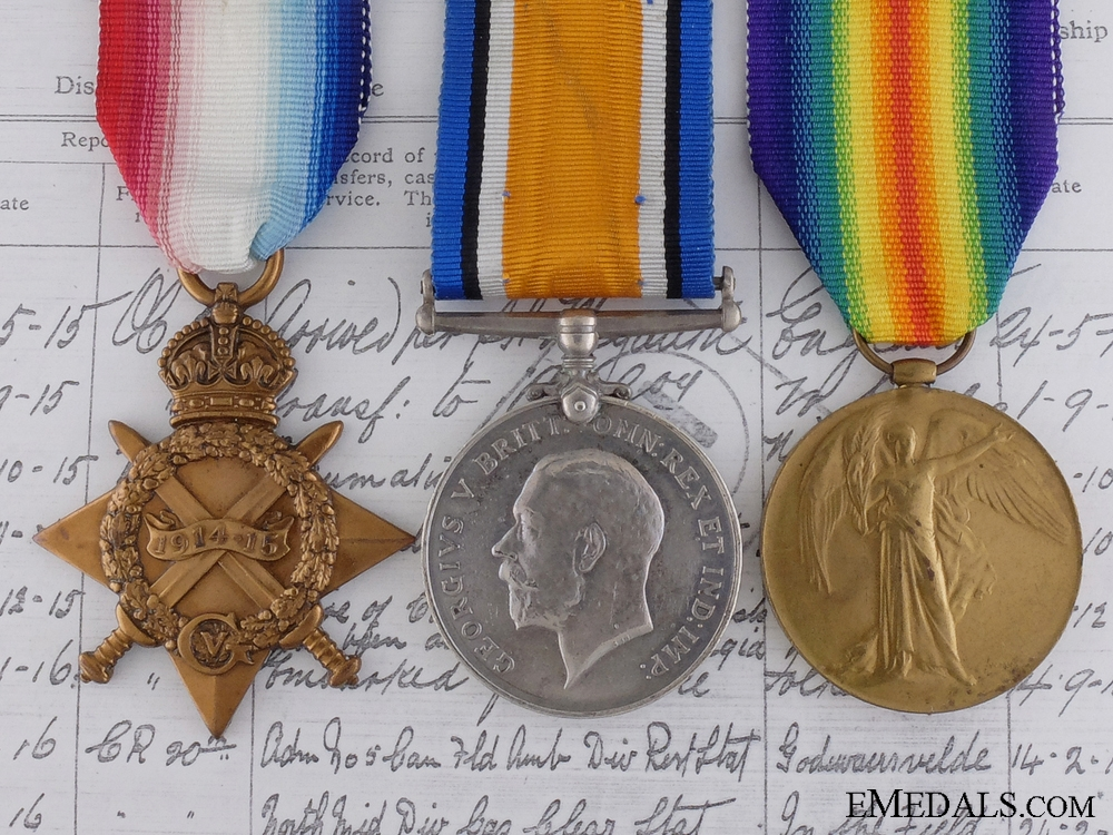 eMedals-A First War Trio to the 20th Canadian Infantry