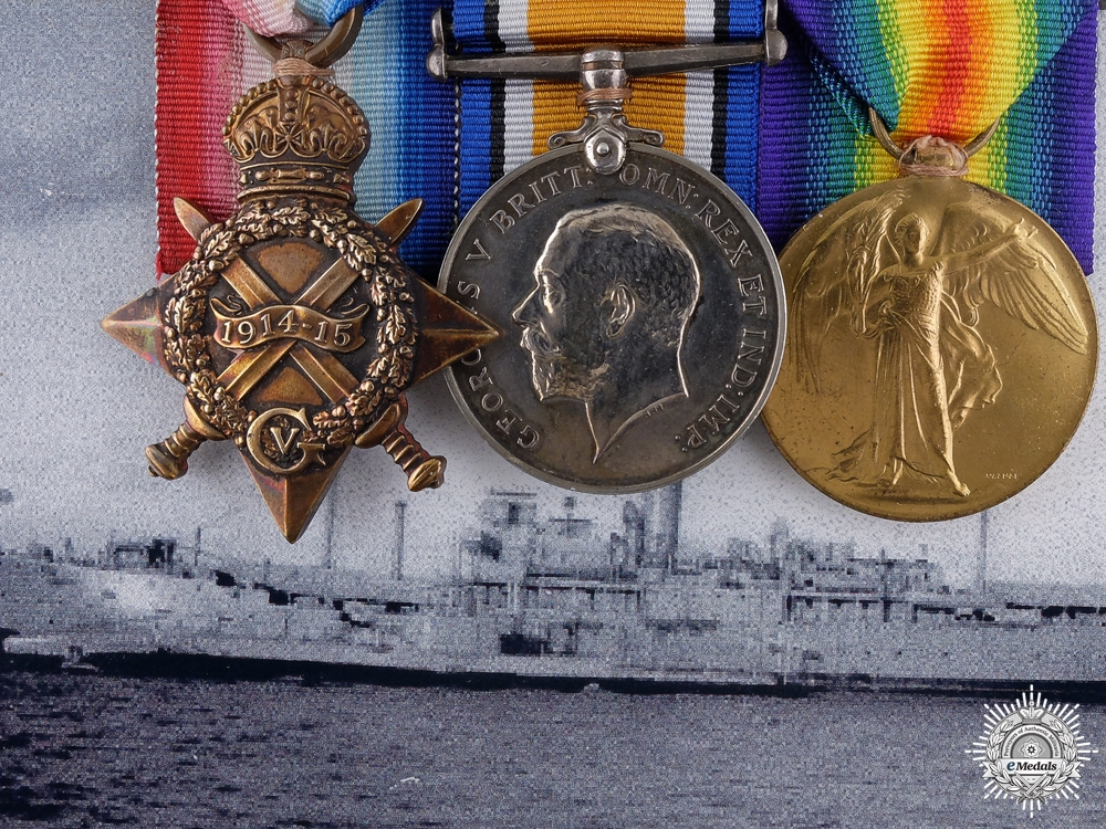 eMedals-A First War Trio to Leading Stoker William Roper