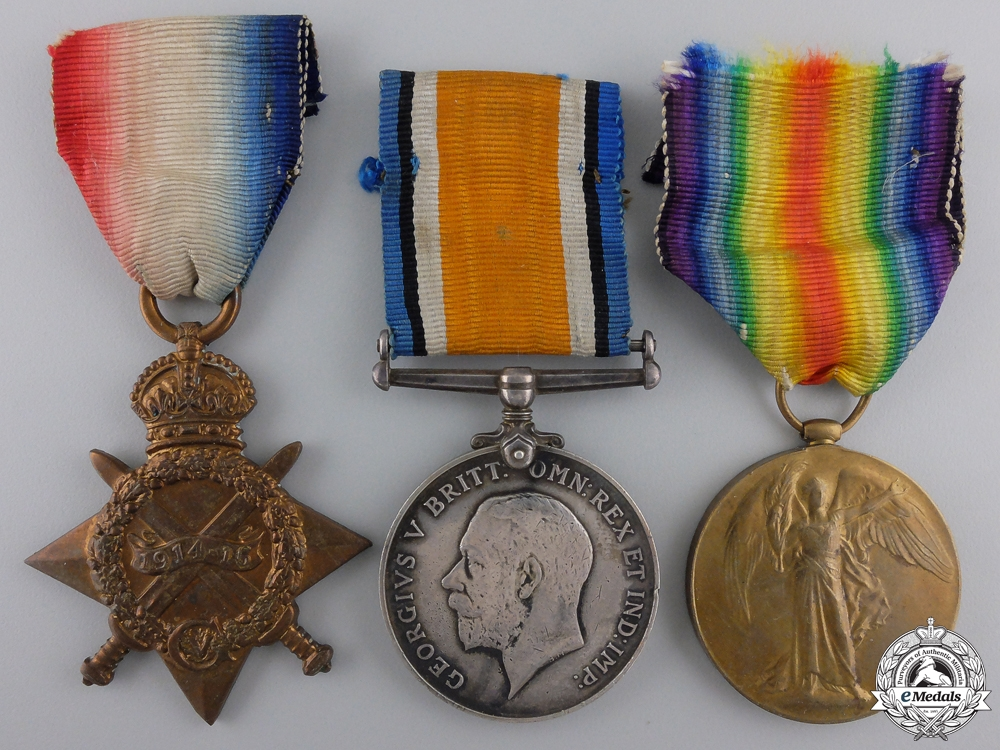 eMedals-A First War Trio to the 1st Canadian Infantry Brigade Headquarters