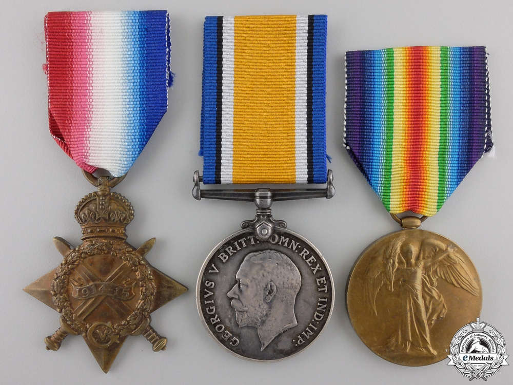 eMedals-A First War Trio to the 3rd Canadian Infantry; Mont Sorrel