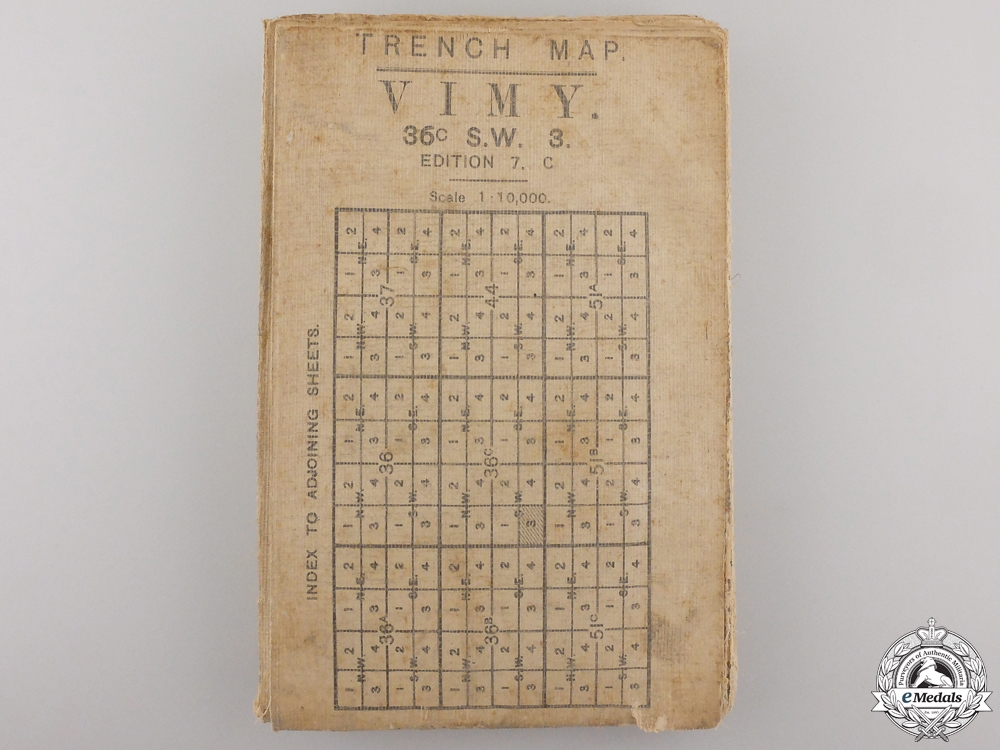 eMedals-A First War Vimy Trench Map 1916