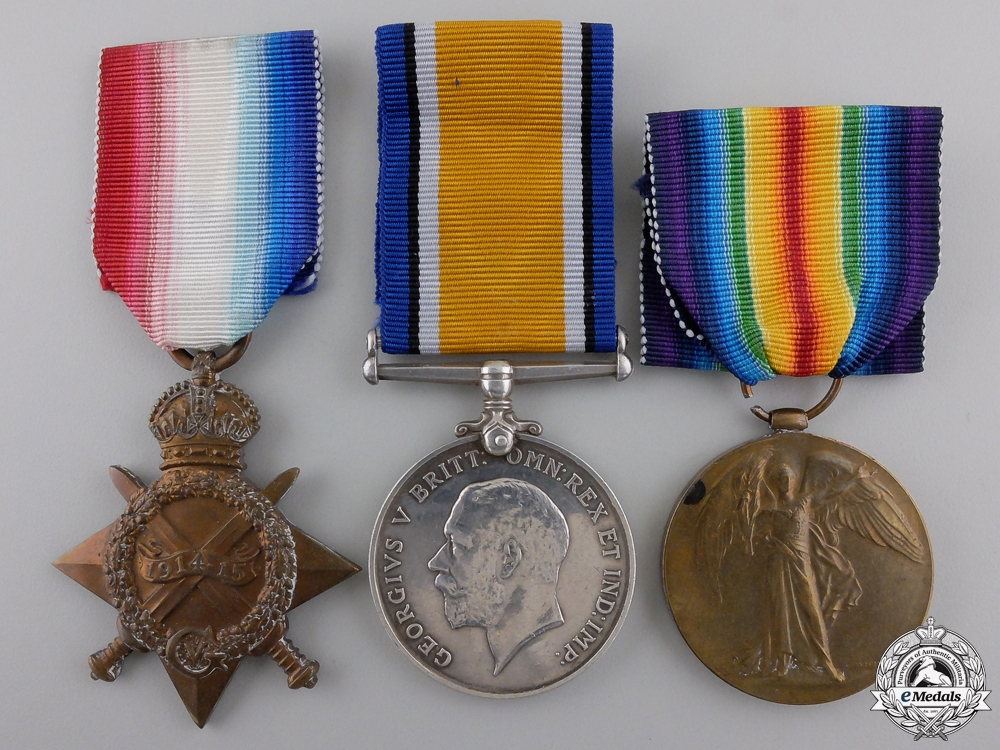 eMedals-A First World War Trio to the 27th Canadian Infantry