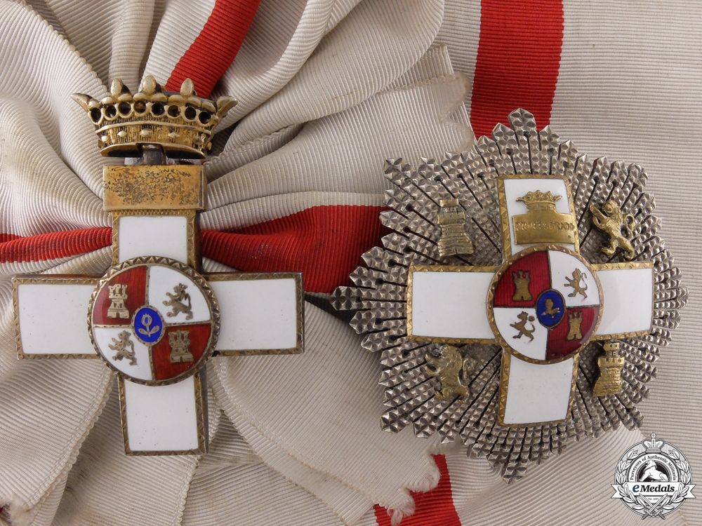eMedals-A Franco Period Spanish Order of Military Merit; Grand Cross