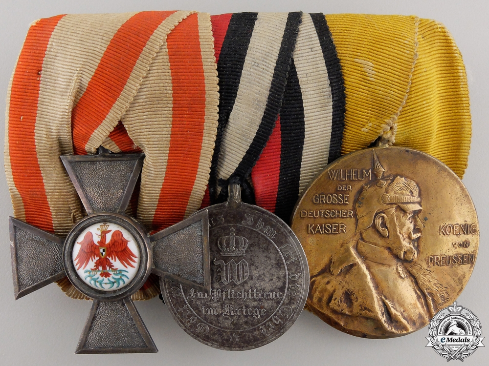 eMedals-A Franco-Prussian Red Eagle Medal Group