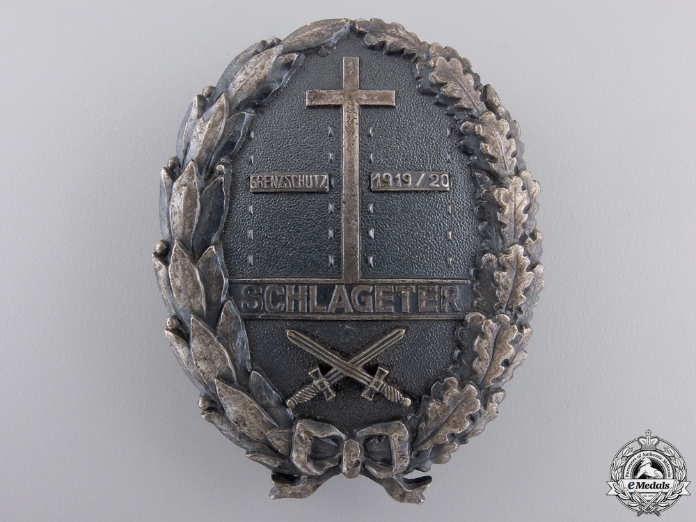 eMedals-A Freikorps Schlageter Badge; Second Type