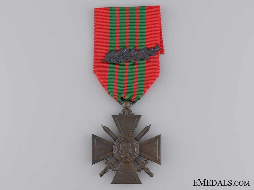 eMedals-A French 1939 WWII War Cross