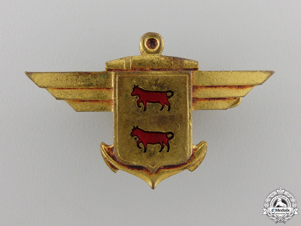 eMedals-A French Bearn Aircraft Carrier Badge