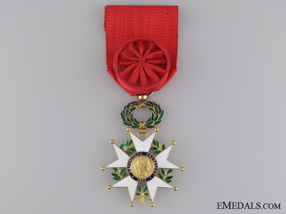 eMedals-A French Legion D'Honneur by Cartier; Officer's Badge