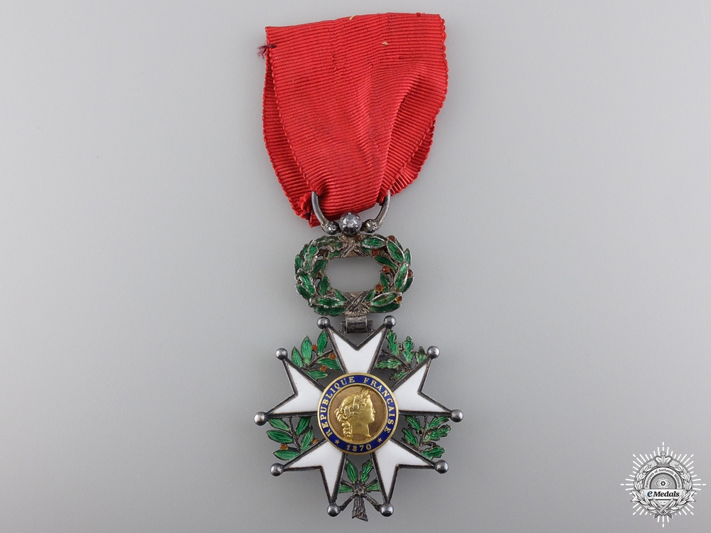 eMedals-A French Legion D'Honneur with Gold Centre; Knight's Badge