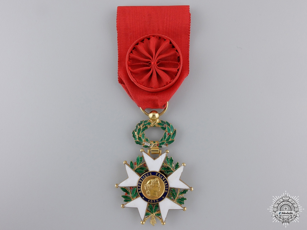 eMedals-A French Legion D'Honneur in Gold; Officer's Badge