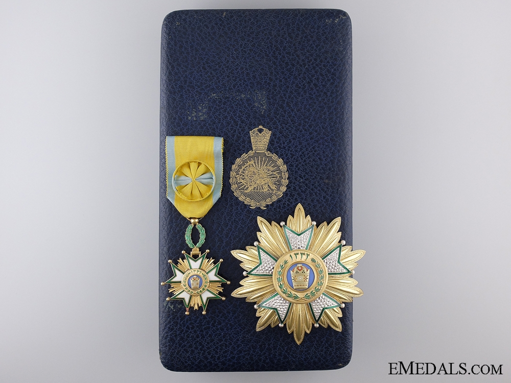eMedals-A French Made Order of the Crown of Iran; Officer's Set