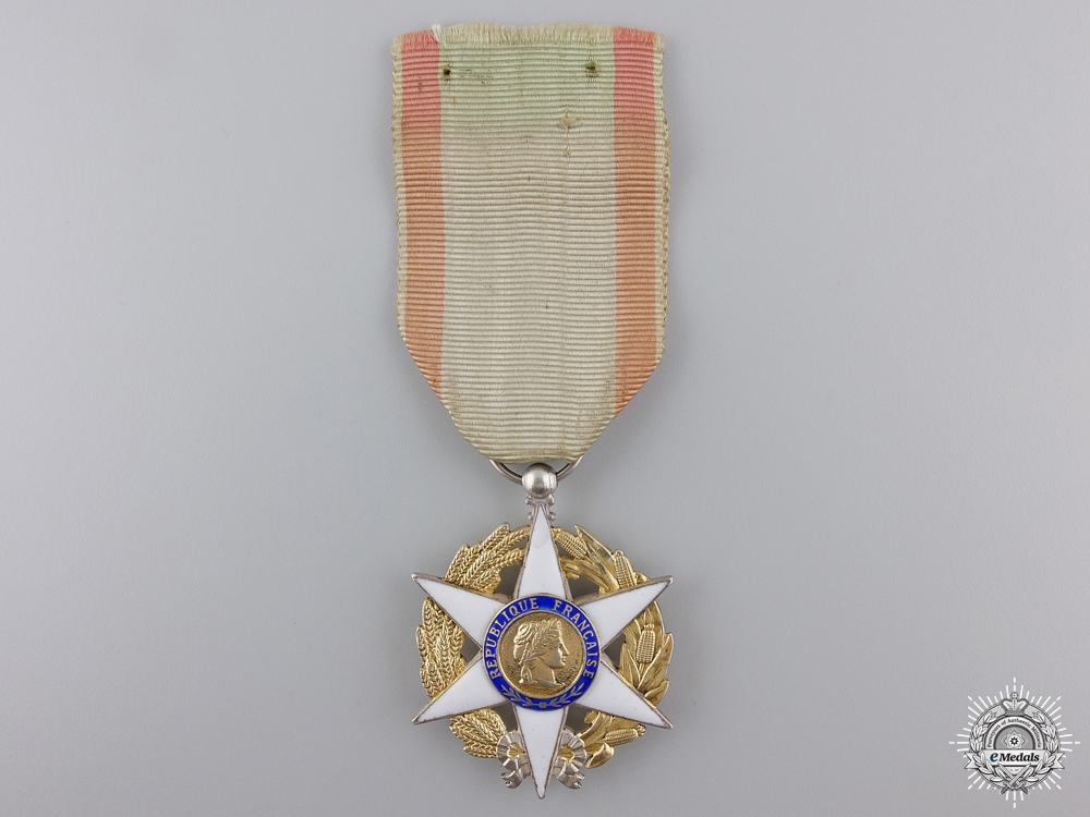 eMedals-A French Order of Agricultural Merit