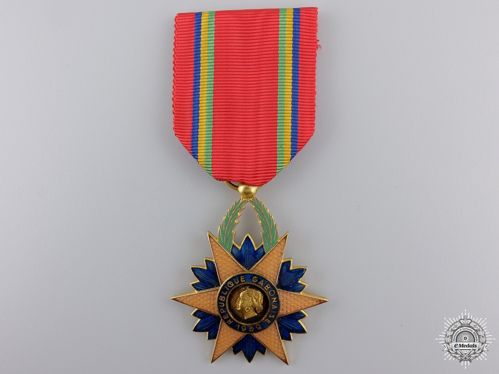 eMedals-A Gabonese Order of the Equatorial Star; Knight