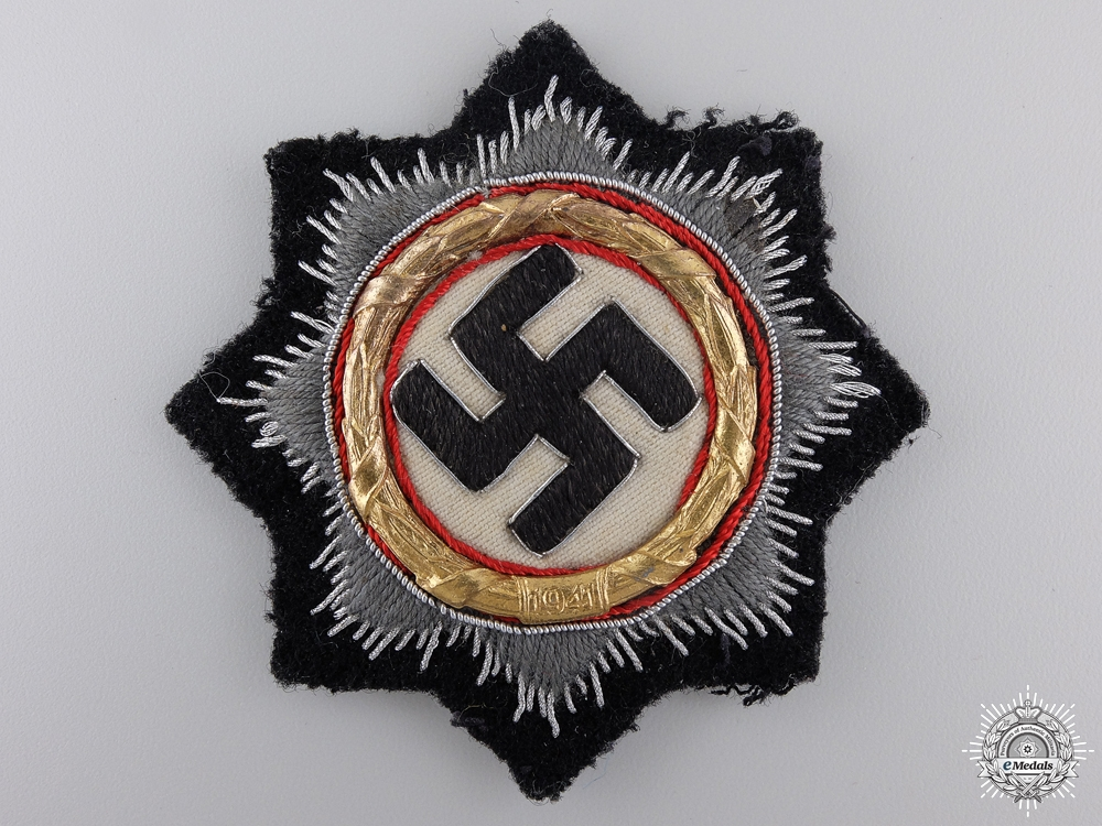 eMedals-A German Cross in Gold; Black Panzer Version