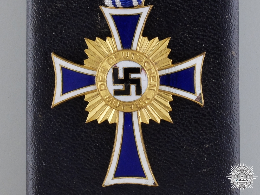 eMedals-A German Mother's Cross; Gold Grade with Case